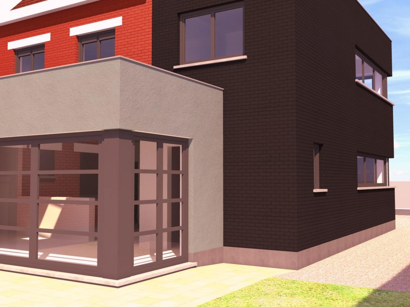 Architect- en ingenieursbureau Andries & Vuylsteke - Verbouwing woning Evergem
